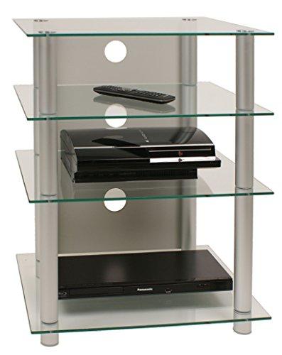 vcm vcm meuble hifi bilus rack etagere table aluminium verre