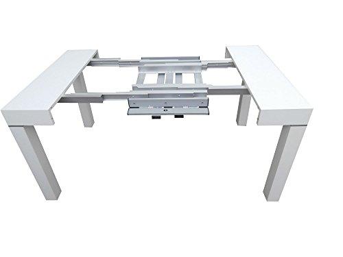 arredinitaly table console extensible de 110 x 50 a 110 x 300 cm jusqu a 12 fois frene blanche a poro ouvert