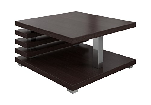 table basse oslo marron fonce wenge 60 x 60 cm
