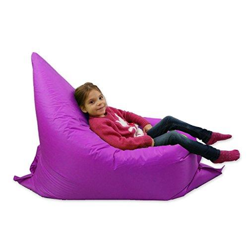 grand pouf pour enfants pour jardin 6 positions geant coussin de sol d exterieur 100 resistant violet a l eau