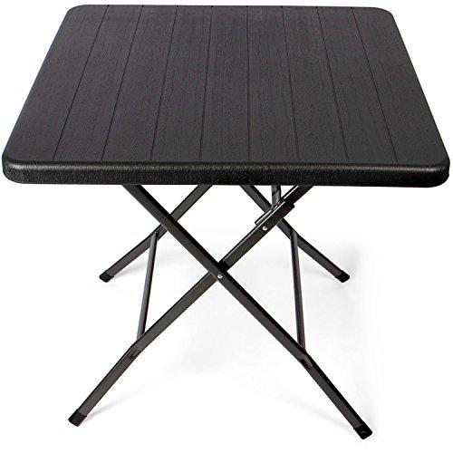 park alley table d appoint pour exterieur table de jardin carree en rotin synthetique pliable et ultra compacte structure en acier parfait