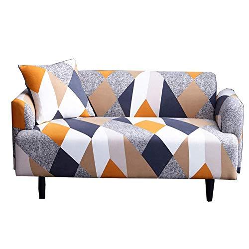 vommpe housse de canape 3 places vec accoudoirs salon couverture imprime geometrique extensible sofa protection manchon
