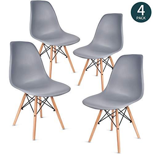 vadim chaise salle a manger lot de 4 moderne chaise salon sieges en plastique chaise design