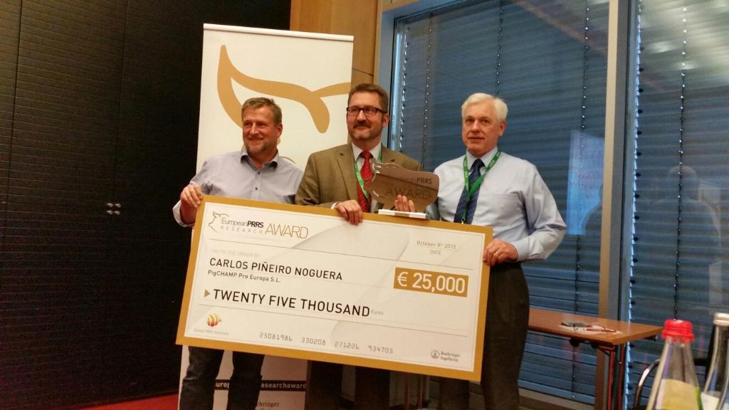 PigCHAMP galardonada con uno de los Premios Europeos de Investigación PRRS