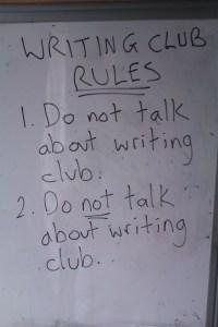 rules of writing club
