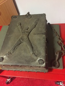 Book of Martyrs fastened securely against theft