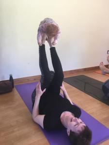 Baby tries yoga