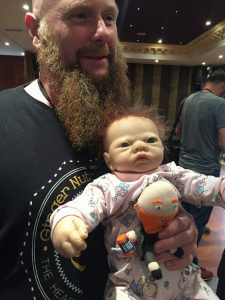"Baby with ""Gingernuts of Horror"" Jim McLeod"