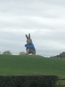 Giant Peter Rabbit statue