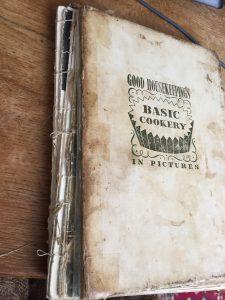 Badly damaged Good Housekeeping cookery book