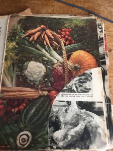 Torn page of Good Housekeeping cookery book
