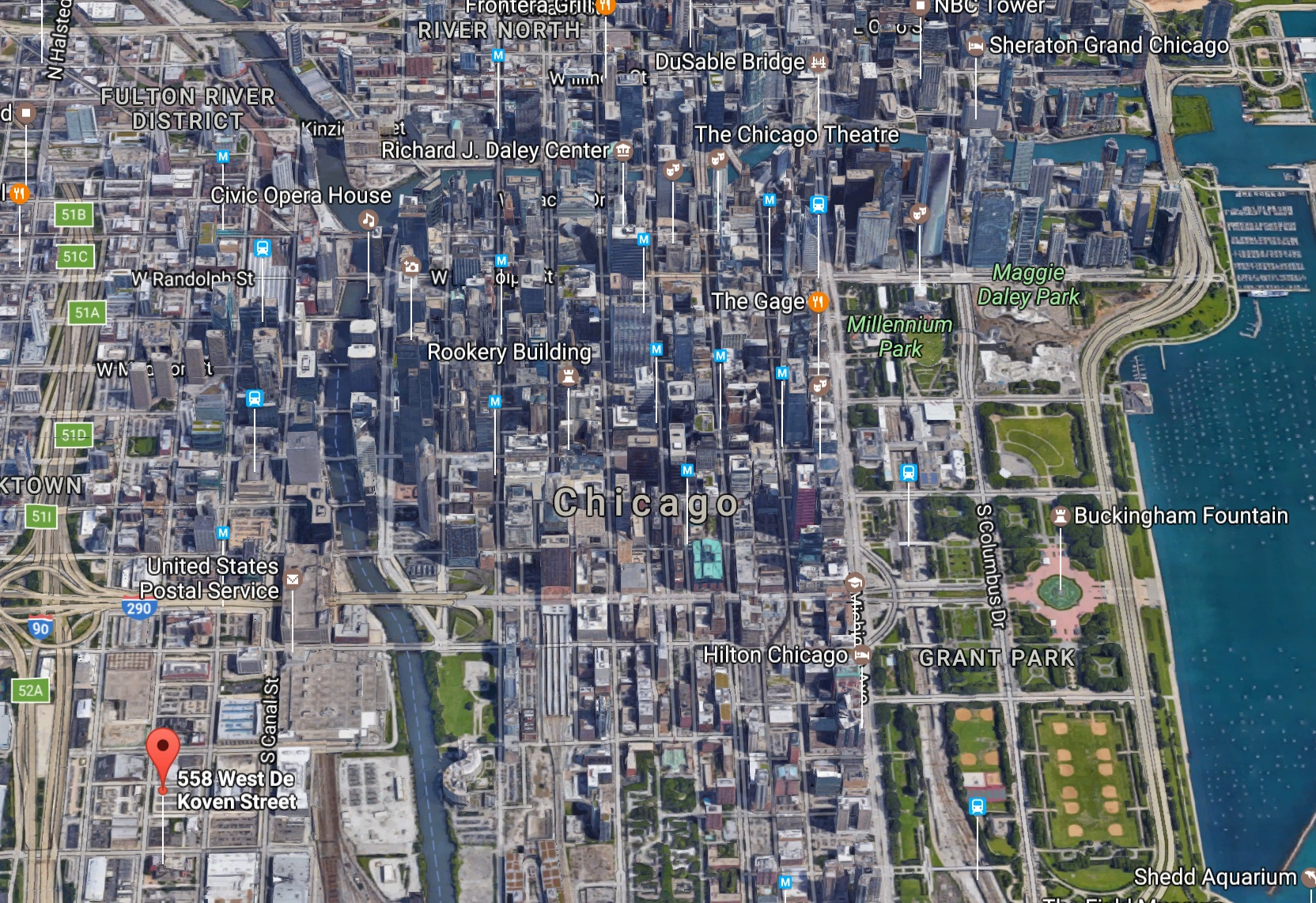 The Great Chicago Fire  The Pigeon Roost - Chicago fire map