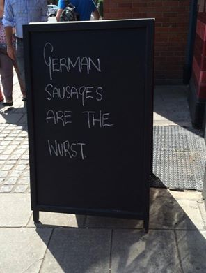 Loving pub sign boards at the moment, they're all being really creative