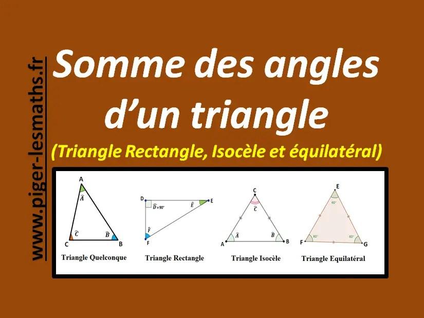 somme des angles d un triangle