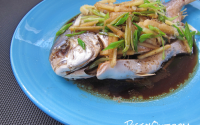 Steamed Fish with Ginger