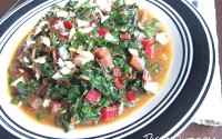 Red Swiss Chard with Salted Egg