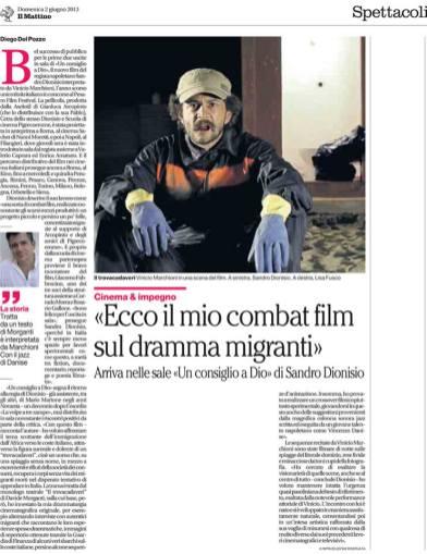 Il Mattino 02/06/2013- Articolo di Diego Del Pozzo