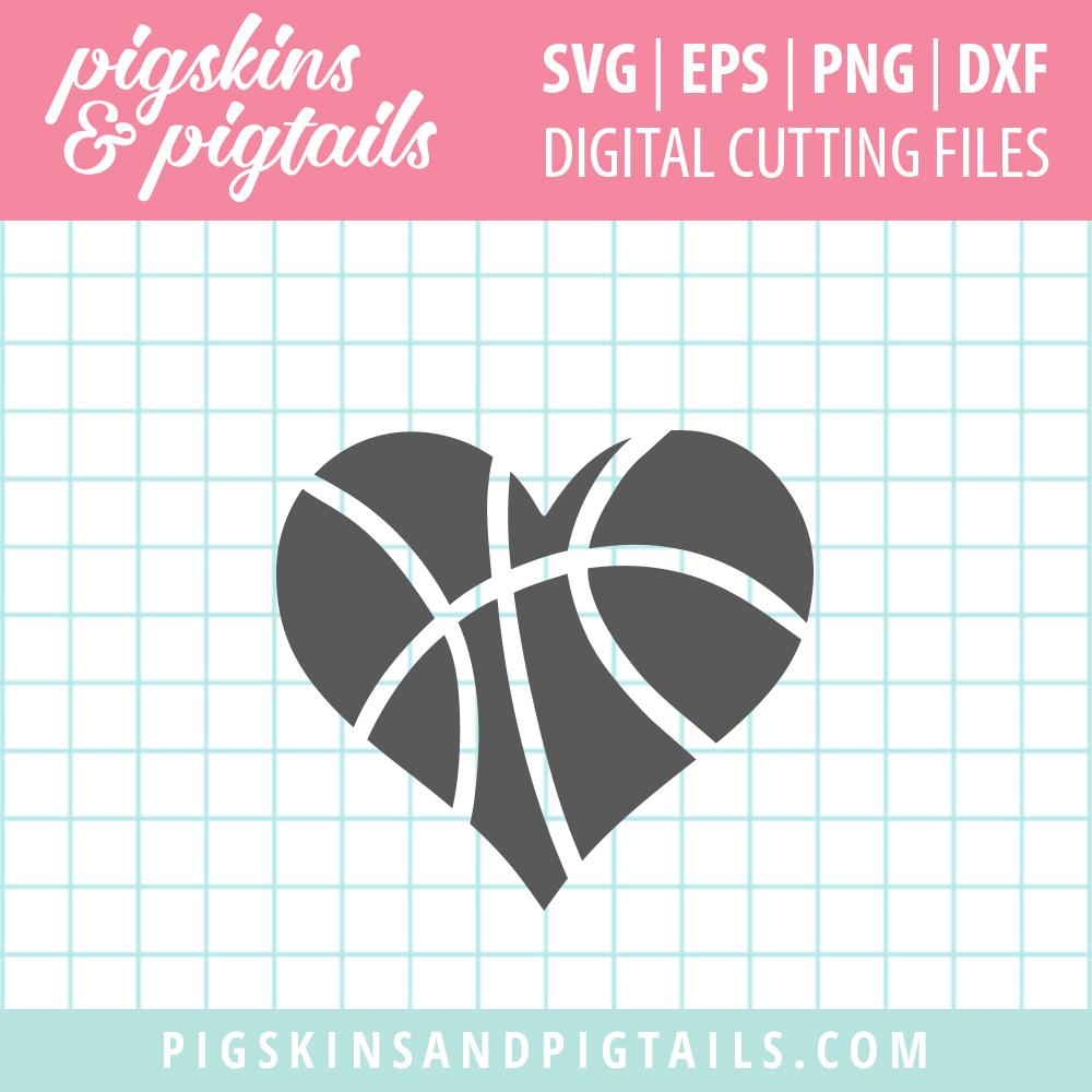 Download Basketball Heart   Pigskins & Pigtails