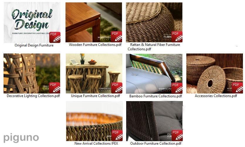 Piguno Indonesia furniture catalog