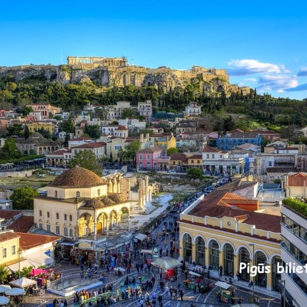 """Atpigo! """"RyanAir"""" pigūs bilietai į Atėnus, Graikija, iš Vilniaus – tik 55 EUR į abi puses!"""