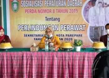 Sosialisasi Perda, Ketua DPRD Parepare Jelaskan Pentingnya Perlindungan Perawat