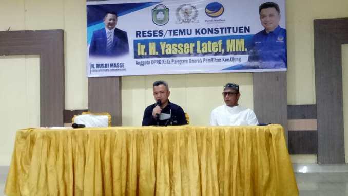 Temu Konstituen, Ketua Fraksi NasDem Parepare Komitmen Kawal Aspirasi Warga Hingga Terealisasi