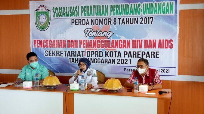 Ketua DPRD Parepare Sosialisasikan Perda Pencegahan HIV
