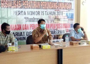 Anggota Komisi I DPRD Parepare Satriya Sosialisasikan Perda Penyelenggaraan dan Pengelolaan Perpustakaan