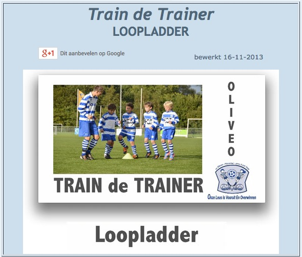 Train de Trainer Loopladder