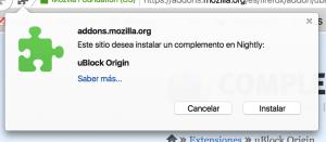 uBlock Origin, instalar