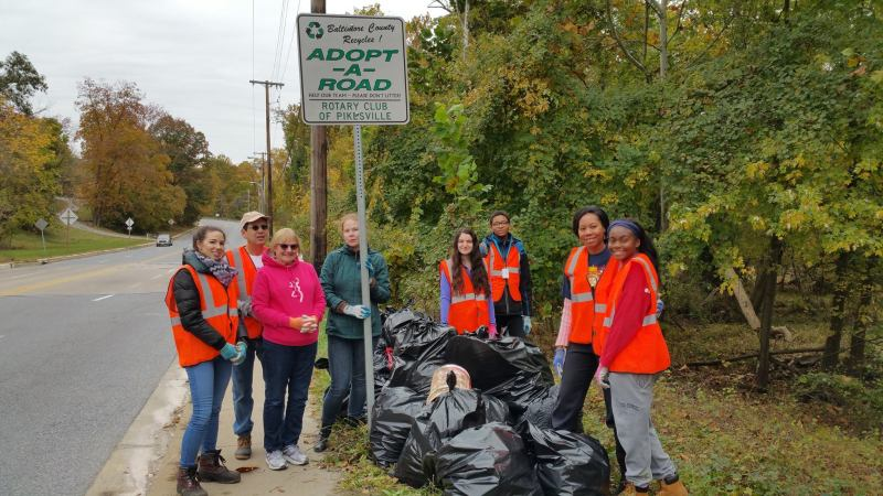 Pikesville Adopt a Road Project