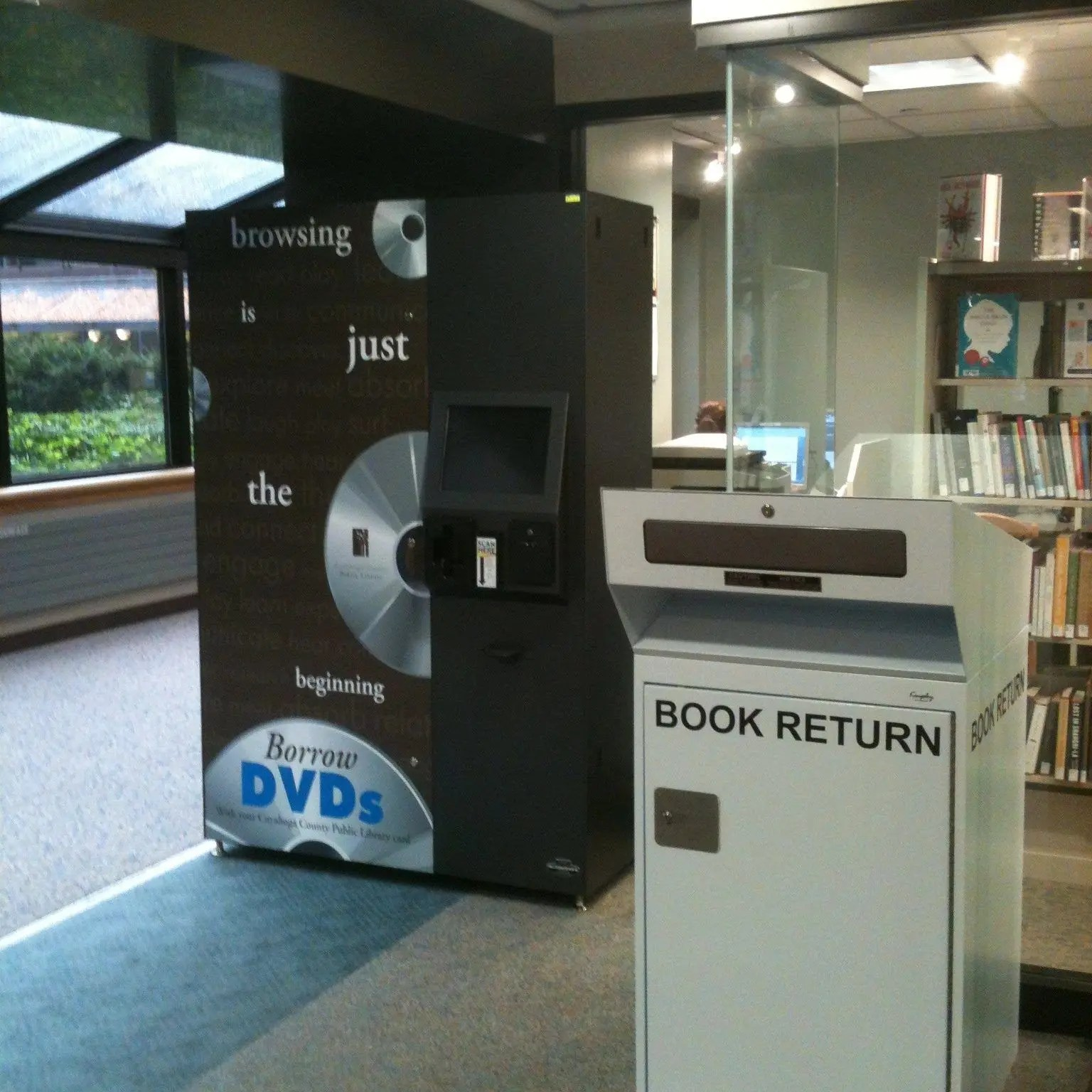dvd vending machine