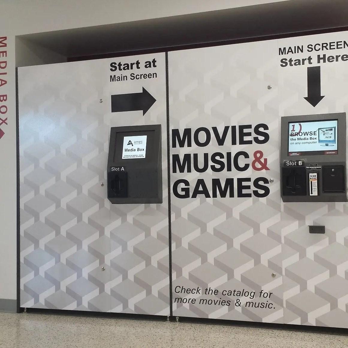 dvd vending kiosk