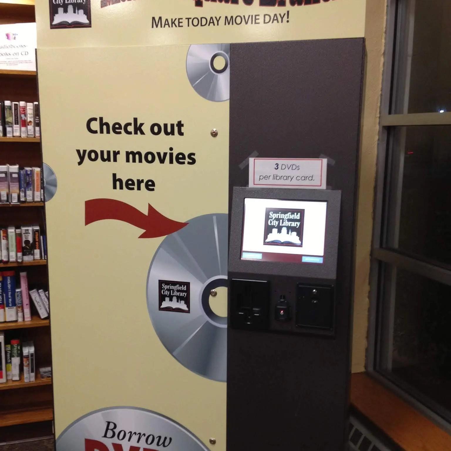 library movie lending machine