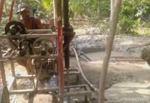 Pengoboran minyak di Alue Peuno. (Foto Zulham Yusuf)