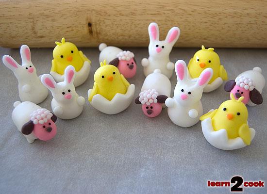 Fondant Easter Figures