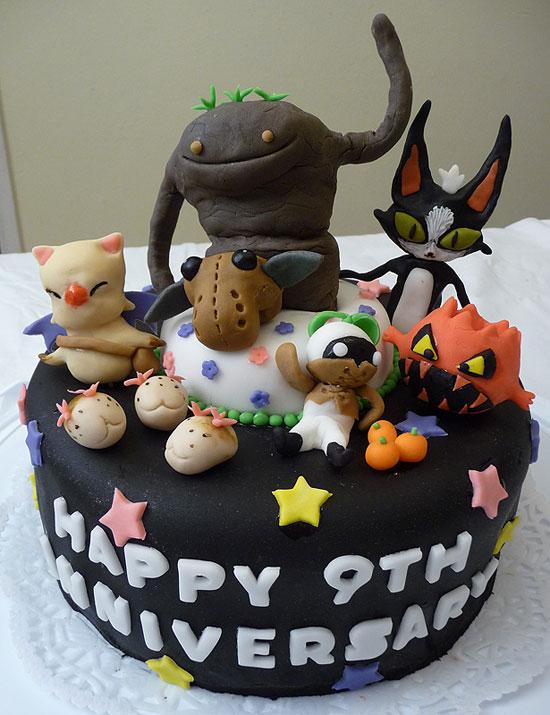 9th Anniversary FFXI Cake