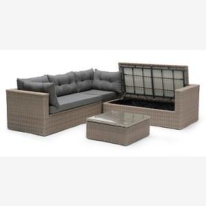 MAITLAND Lounge -kulmasohva ja pöytä