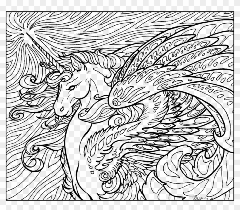 Coloring Pages Fairies And Unicorns With Page Unicorn Hard Coloring Pages Clipart 1757763 Pikpng
