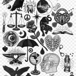 1642 X 2048 6 Traditional Black Tattoo Flash Clipart 1848968 Pikpng
