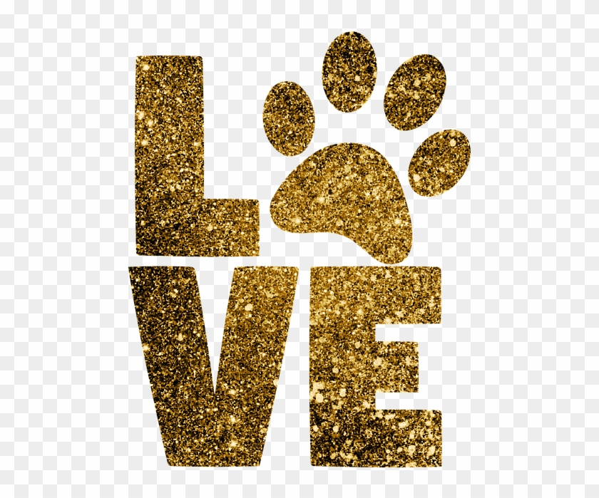 Download Paw Print, Love, Paws, Animal, Pet, Gold Glitter - Love ...