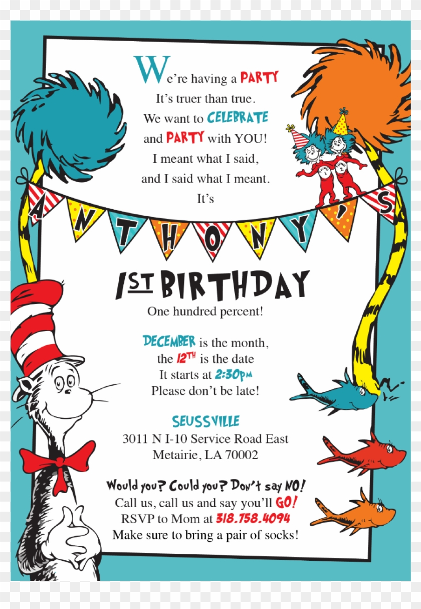 dr seuss birthday invite clipart