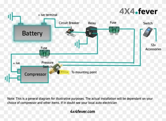 air horn wiring diagram compressor  wire a 12v compressor