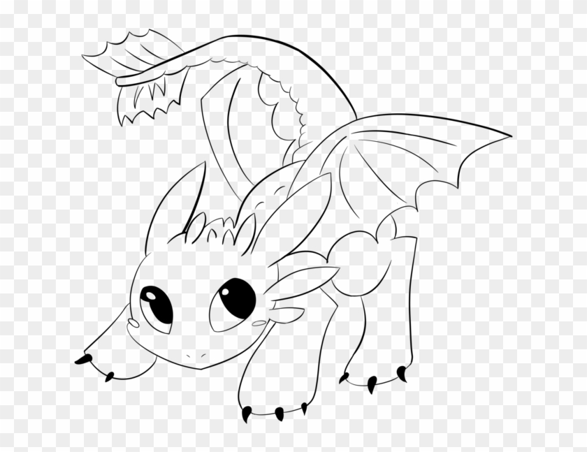 toothless lineartaraly  baby toothless coloring pages