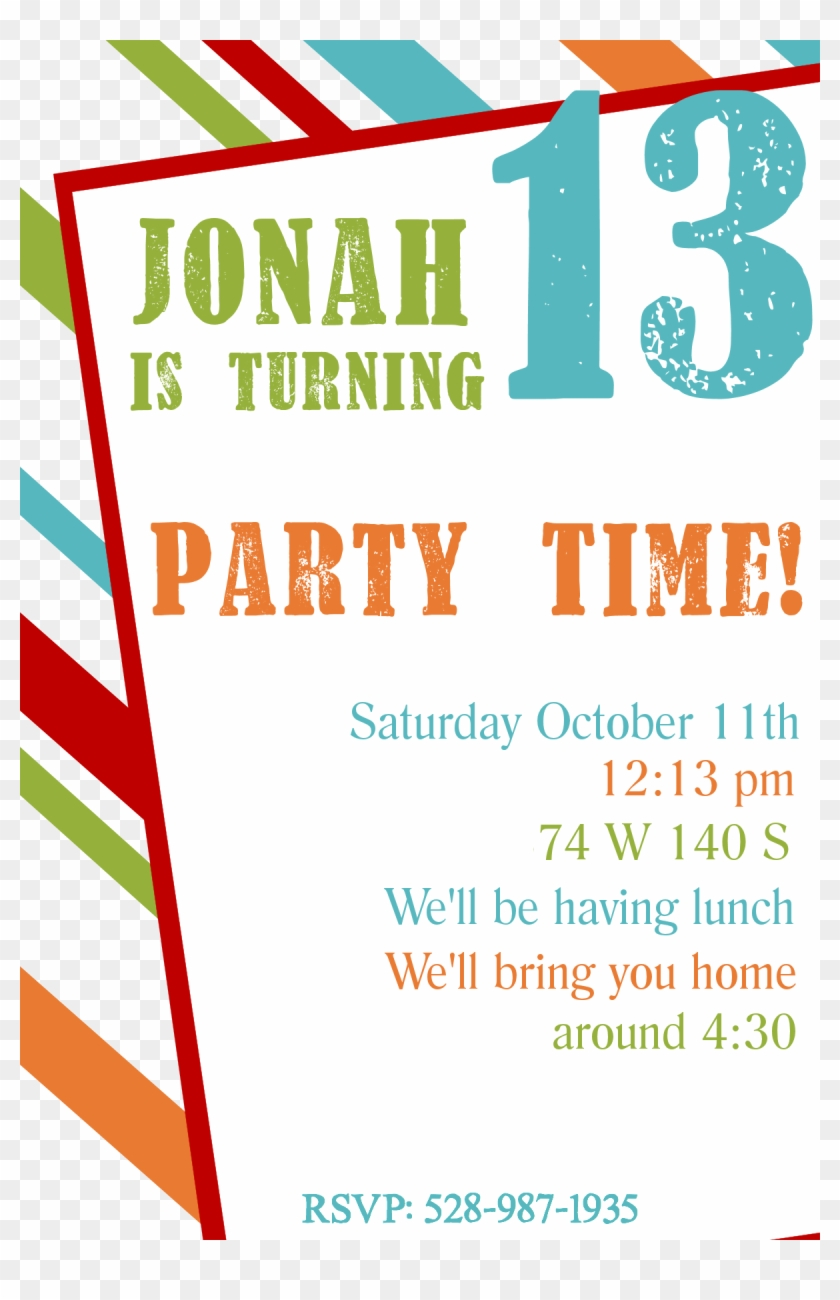 birthday line boy invitation clipart