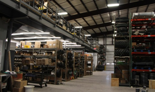 Newly Expanded Parts Warehouse