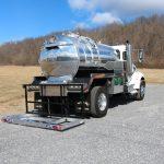 large portable toilet service truck