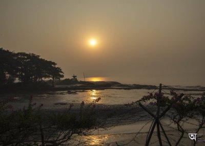 Ganga Kutir Sunrise over the river