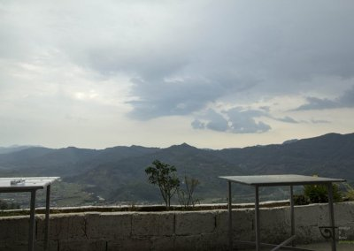 View from the base of World Peace Pagoda Pokhara
