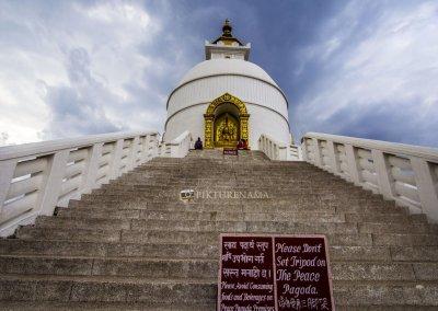 World Peace Pagoda Pokhara close look